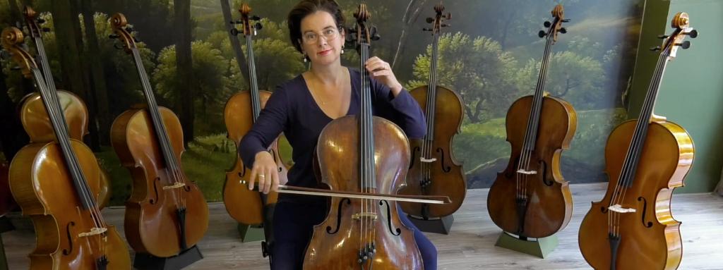 Visueel overzicht posities op de cello
