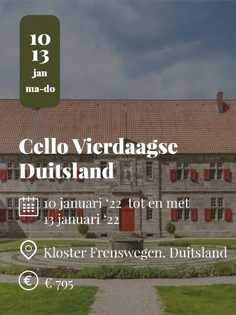 Cello vierdaagse 2022 winter Duitsland