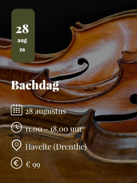 Cello workshop Bachdag 2021