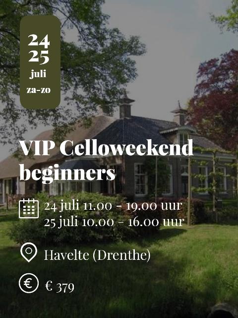 VIP Celloweekend beginners 2021