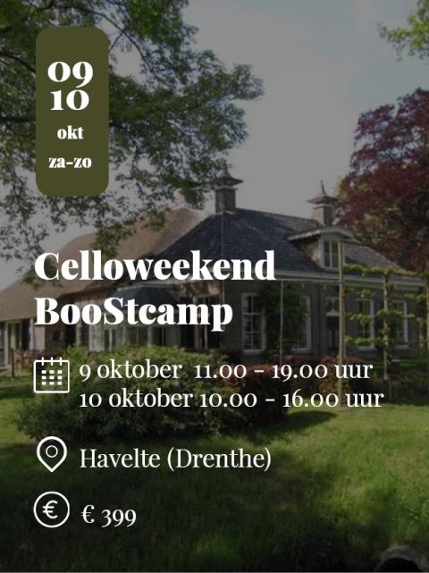 CelloWeekend Boostcamp Havelte 2021